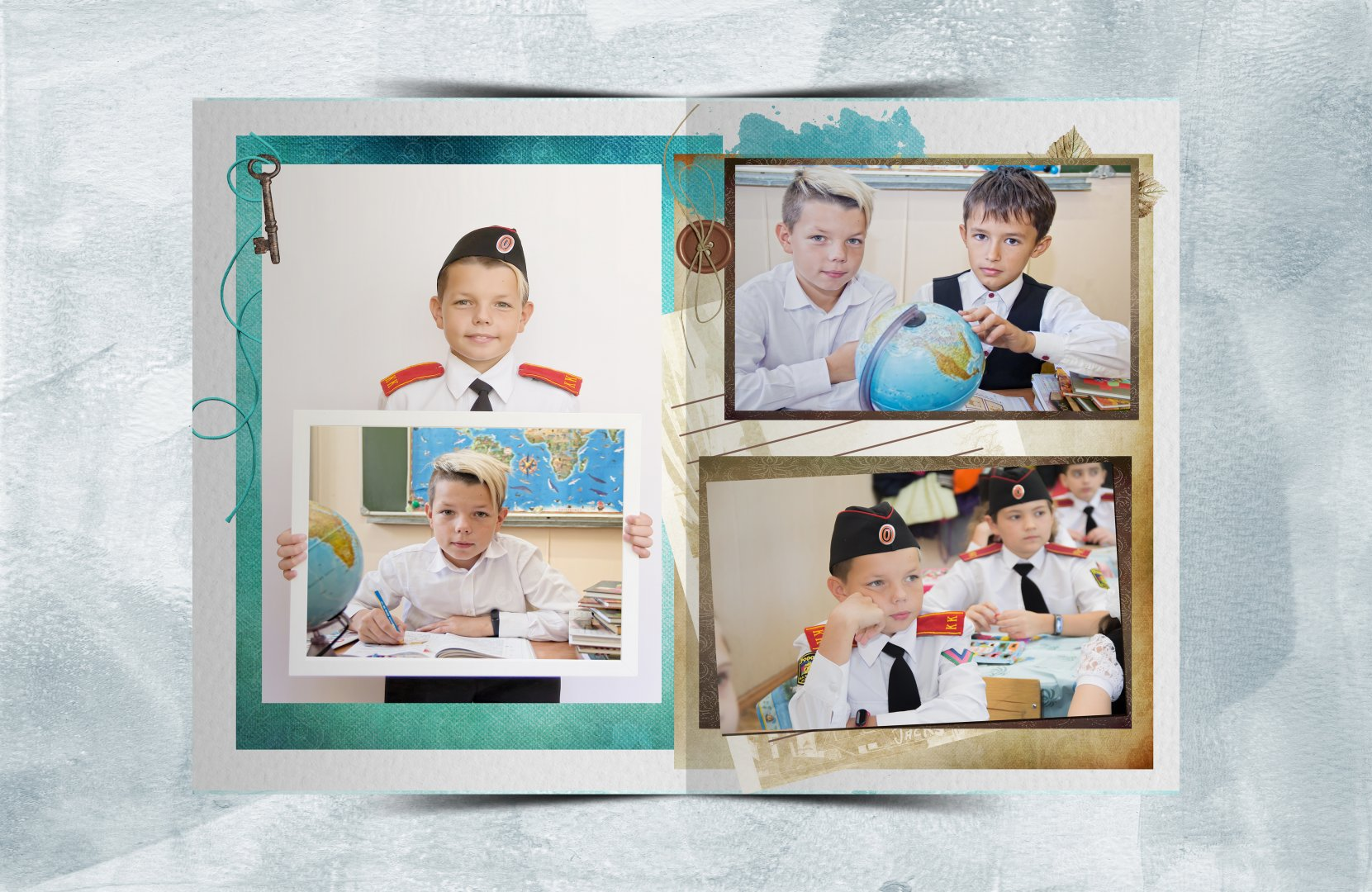 альбом бирюза и шоколад  для начальной школы разворот